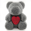 70cm Sitting Rose Bear With Heart