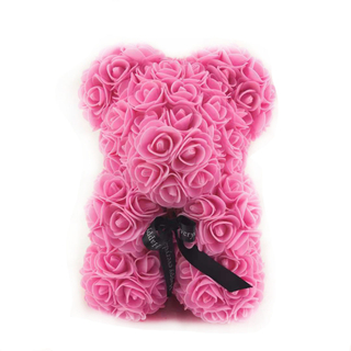 25 CM Sitting Rose Bear